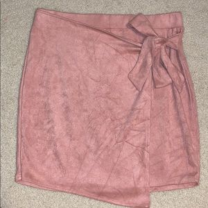 Suede Dusty Rose Pink Skirt